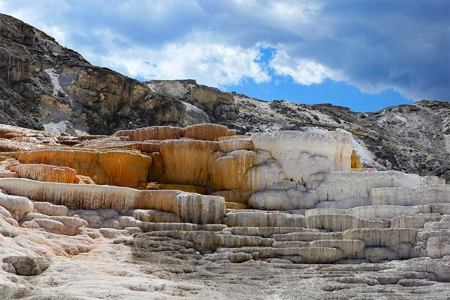 Lower Terrace at Mammoth Hot Springs in Yellowstone