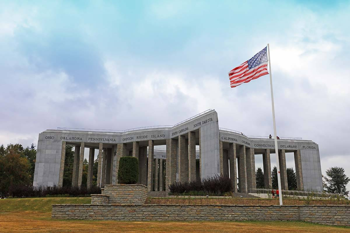 Mardasson Memorial and Bastogne War Museum in Belgium