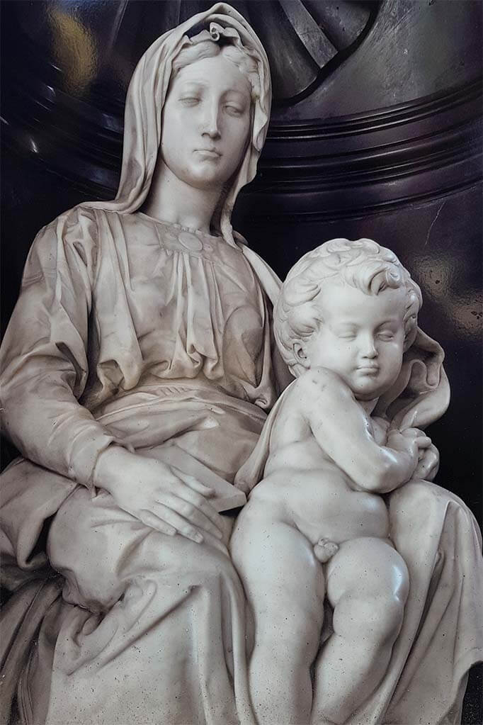 Michelangelo's Madonna and Child at the Church of Our Lady in Bruges Belgium