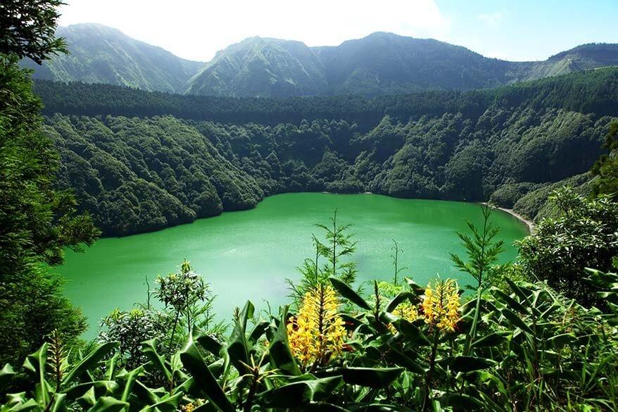Miradouro da Lagoa de Santiago in Sao Miguel, the Azores
