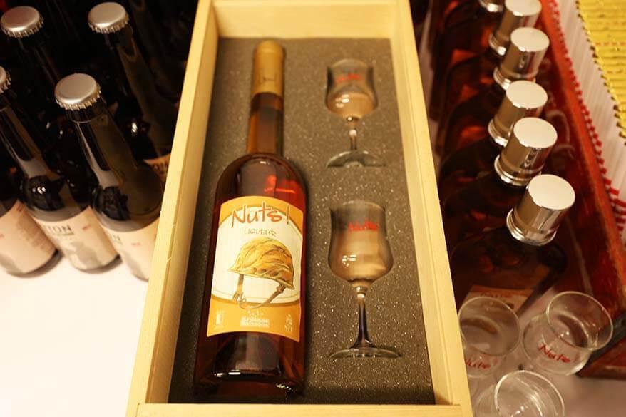 Nuts! liqueur for sale at the Bastogne War Museum