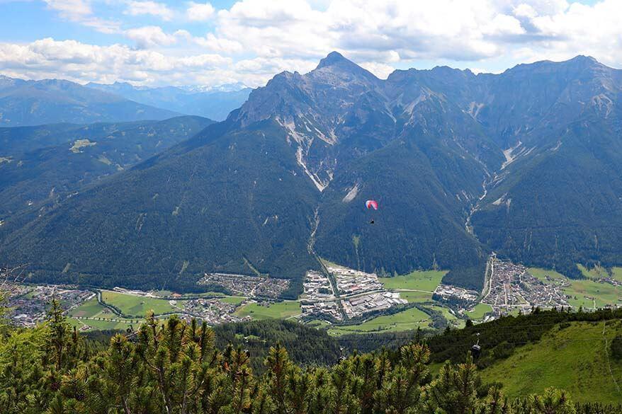 Paragliding at Schlick 2000 in Stubai Austria