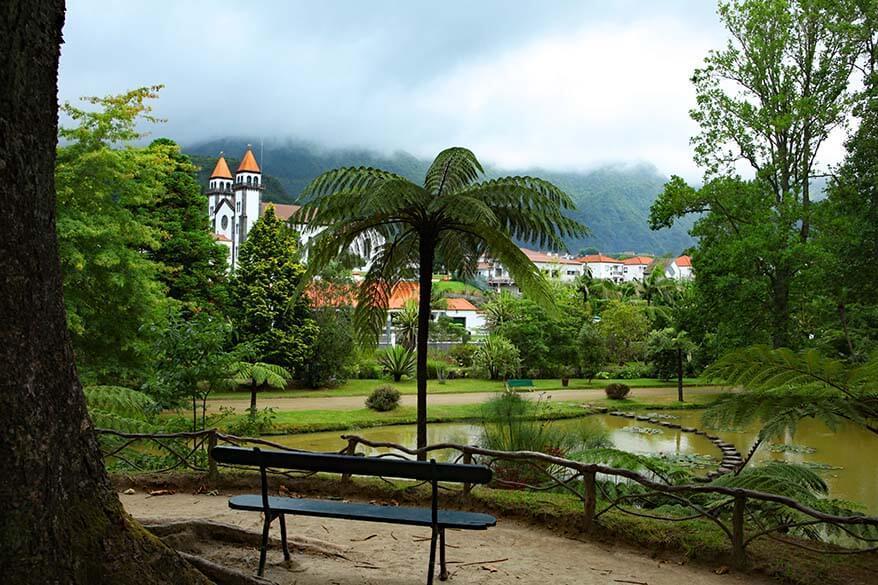 Parque Terra Nostra in Sao Miguel, the Azores
