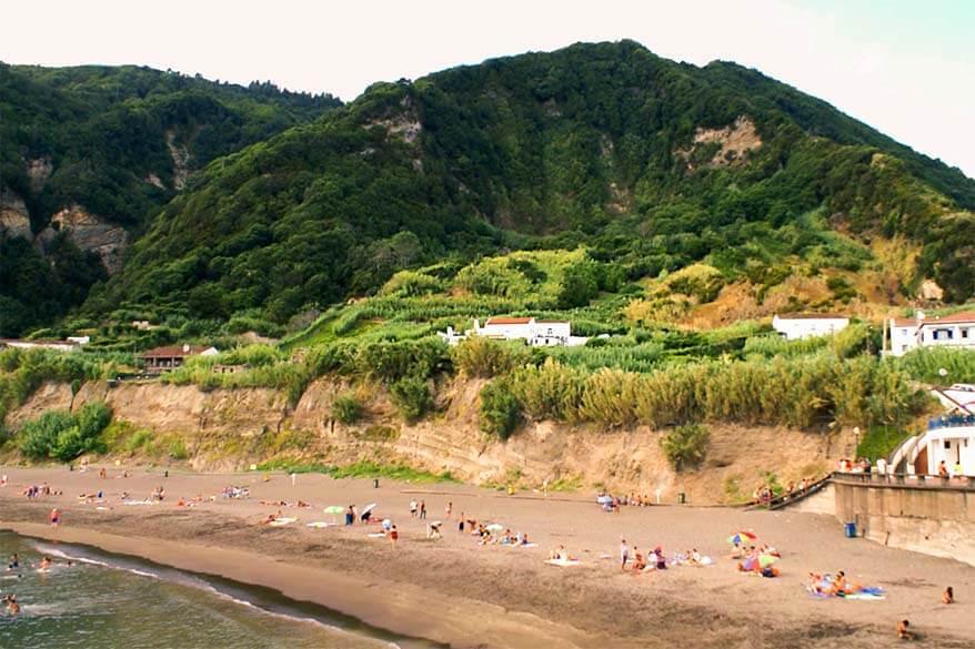Praia do Fogo in Ribeira Quente in Sao Miguel, the Azores