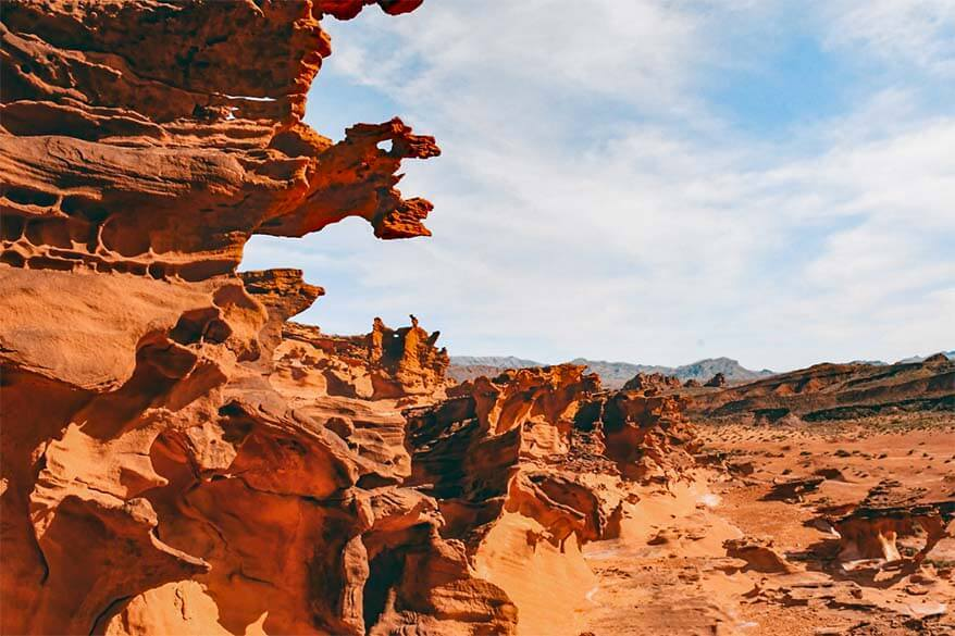 Red rock formations in Little Finland at Gold Butte National Monument