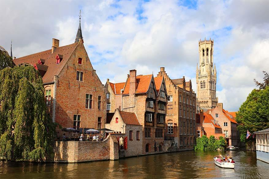 Rozenhoedkaai (Quay of the Rosary) in Bruges