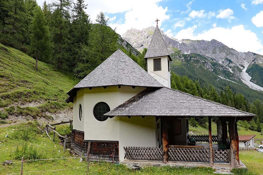 Small chapel at Schlickeralm at Schlick 2000