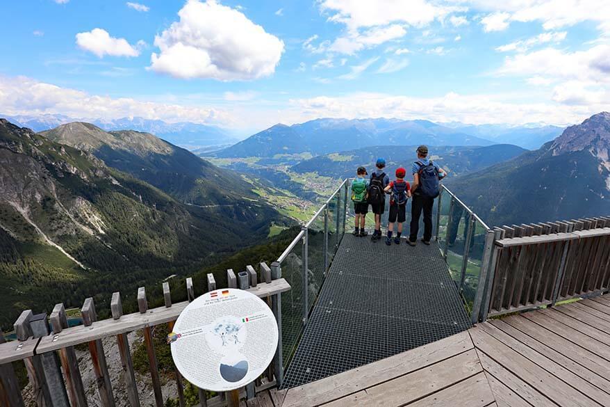 Stubaiblick viewing platform, Schlick 2000, Austria
