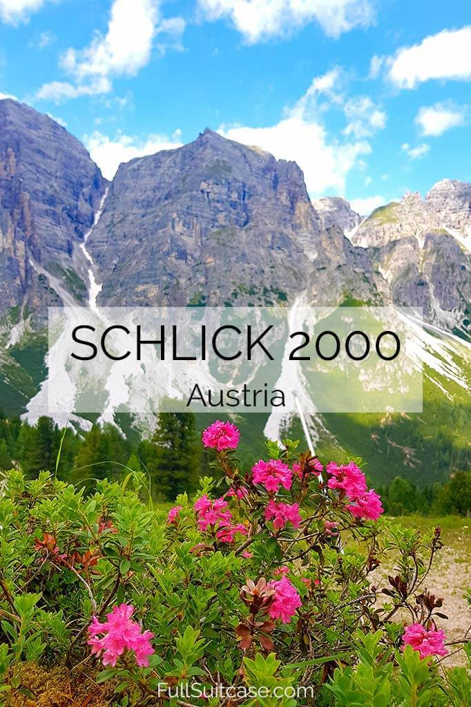 Summer guide to Schlick 2000 in Stubai, Austria