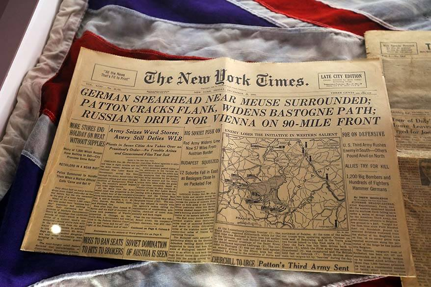 The New York Times 29 December 1944 - Bastogne War Museum