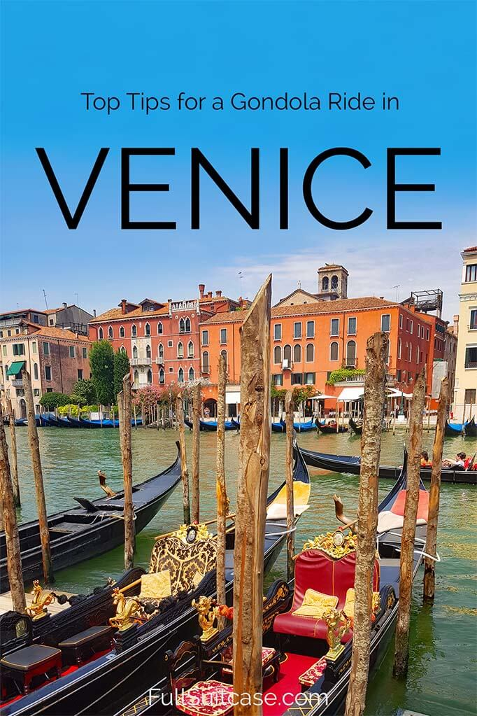 Tips for the best gondola ride in Venice