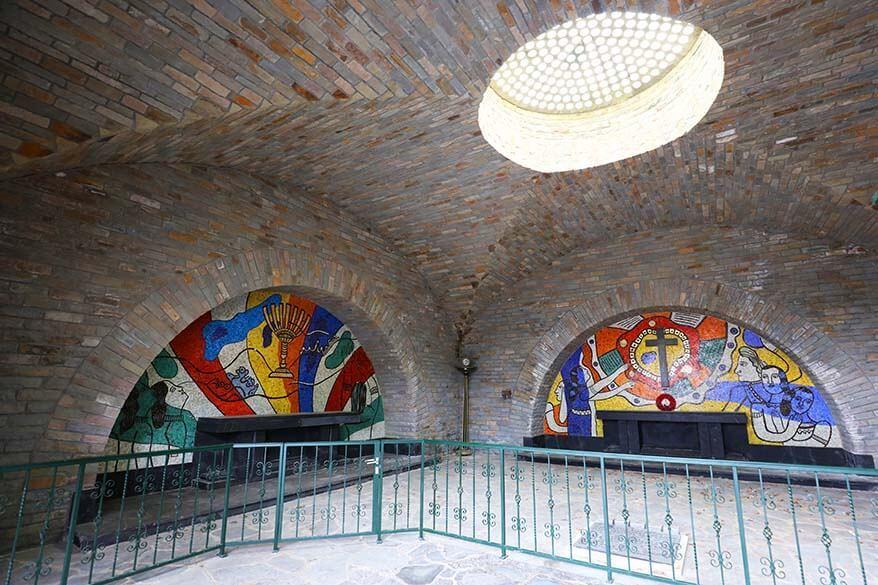 Underground crypt at Mardasson Memorial