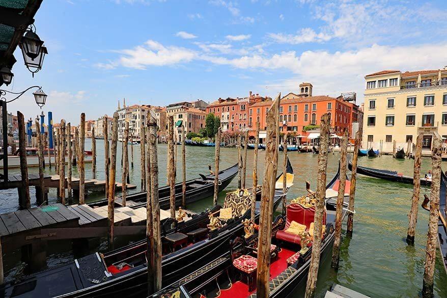 Venetian gondolas on the Grand Canal