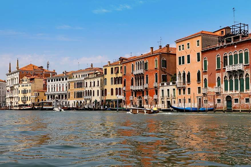 Venice Grand Canal as seen from a gondola