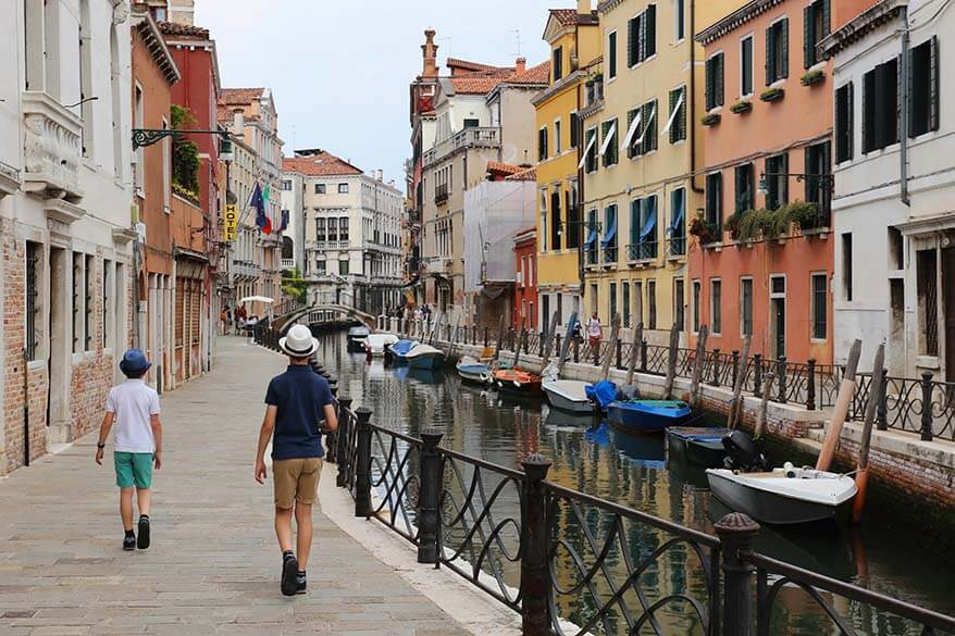 Venice is a car free city