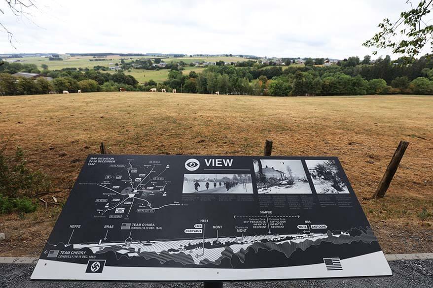 View at Mardasson Memorial in Bastogne