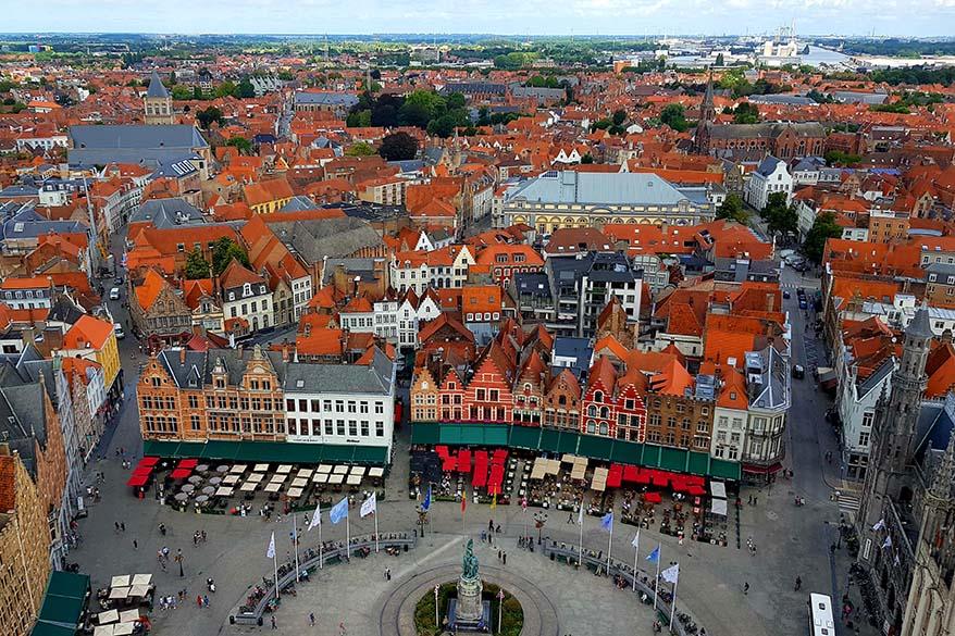 View from Bruges Belfry Tower - Belfort Brugge