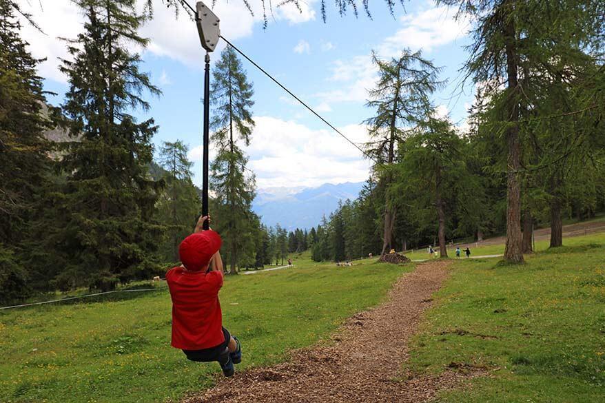 Zipline near Schlickeralm at Schlick 2000