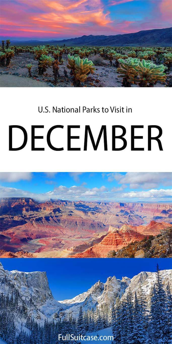 American National Parks in December