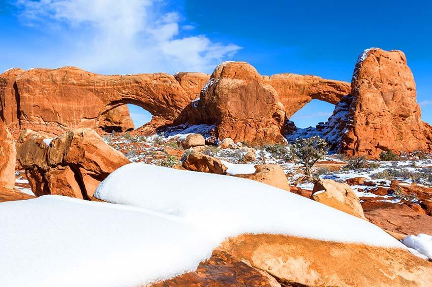 Arches National Park in February
