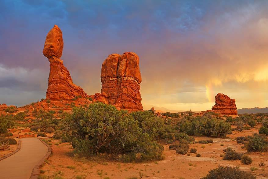 Balanced Rock - one of the best stop of Arches Scenic Drive