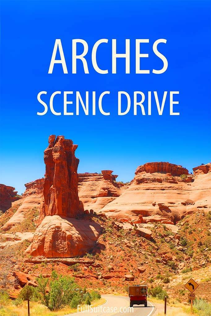 Best viewpoints of Arches Scenic Drive in Arches National Park