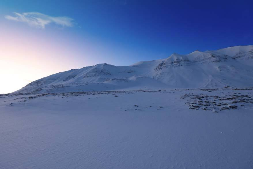 Daylight in Svalbard in February