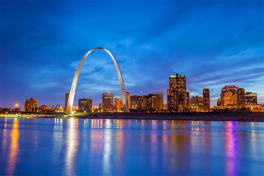 Gateway Arch National Park in St Louis