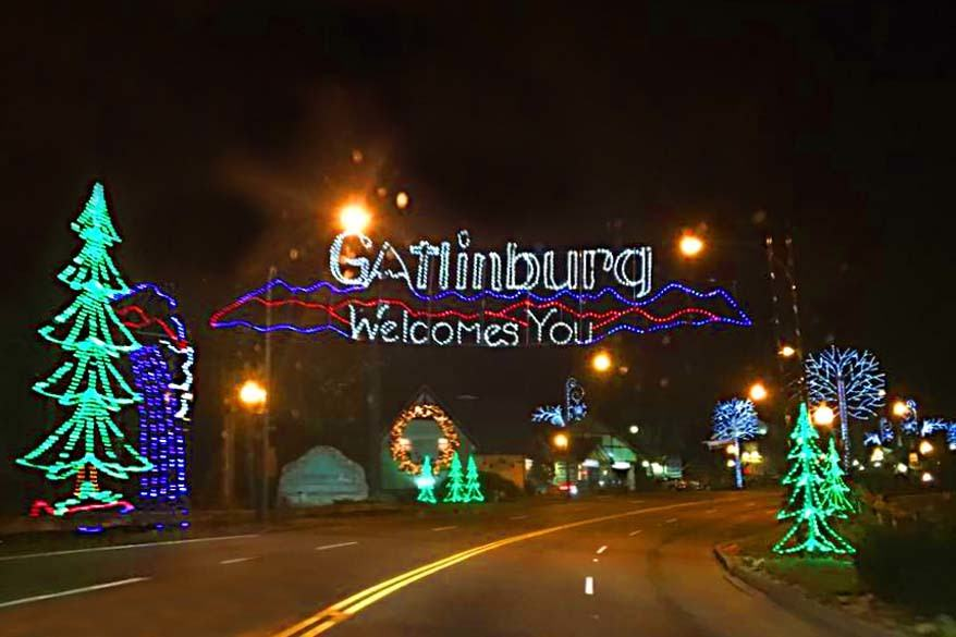 Gatlinburg in the Smoky Mountains at Christmas