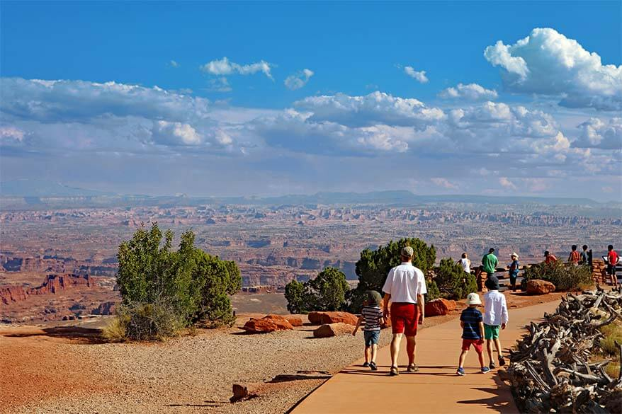 Grand View Point accessible trail in Canyonlands National Park