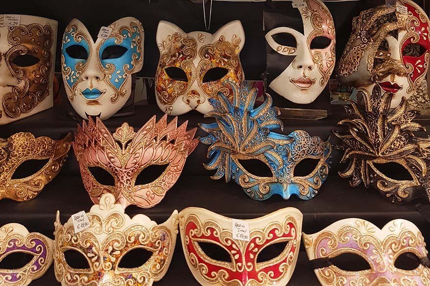 Hand-made Venetian masks