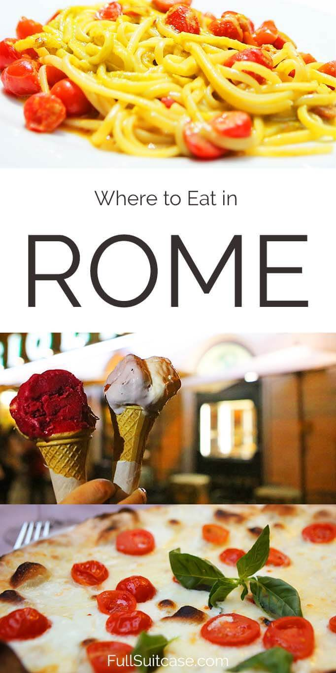 How to find the best food in Rome Italy