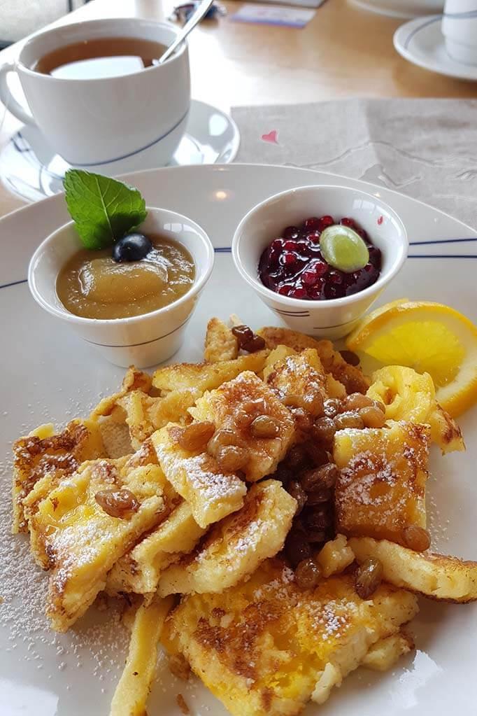 Kaiserchmarrn at Tuxer Fernerhaus restaurant at Hintertux Glacier