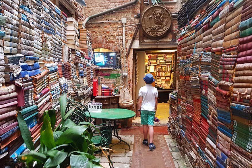 Libreria Acqua Alta in Venice