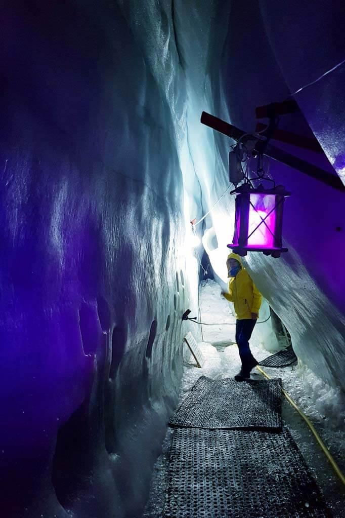 Natural Ice Palace at Hintertux Glacier in Austria