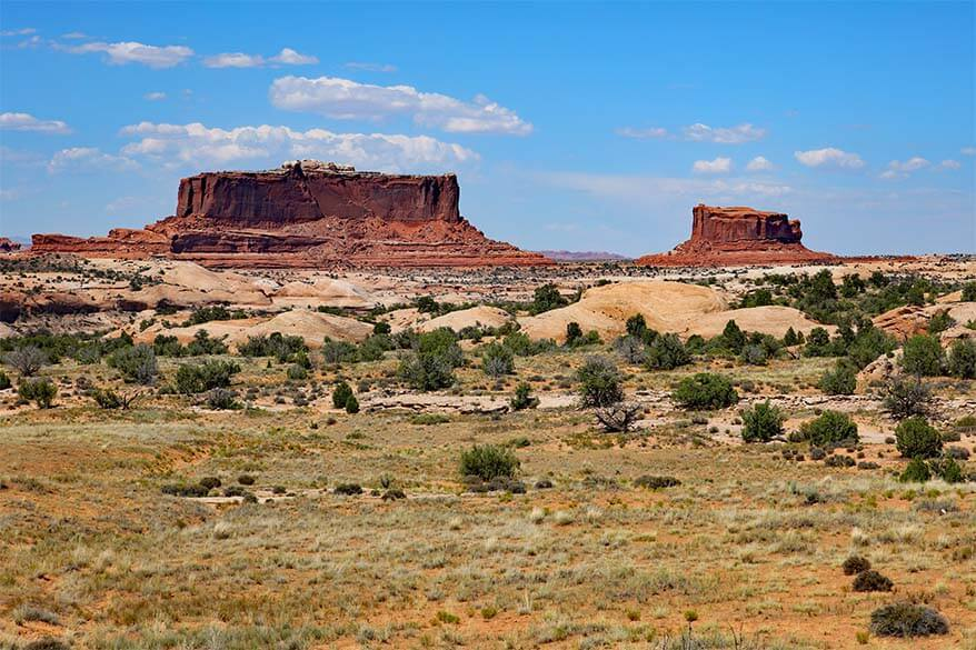 On the road from Arches to Canyonlands
