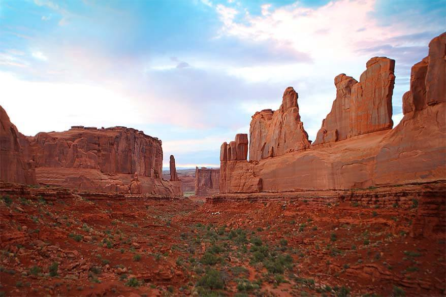 Park Avenue Viewpoint in Arches National Park
