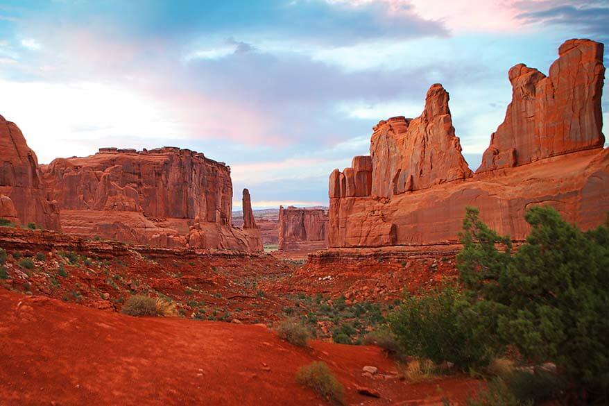 Park Avenue Viewpoint - one of the best stops of Arches Scenic Drive