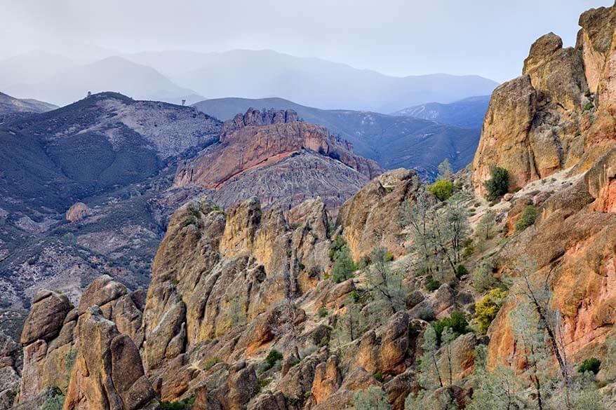 Pinnacles National Park in winter