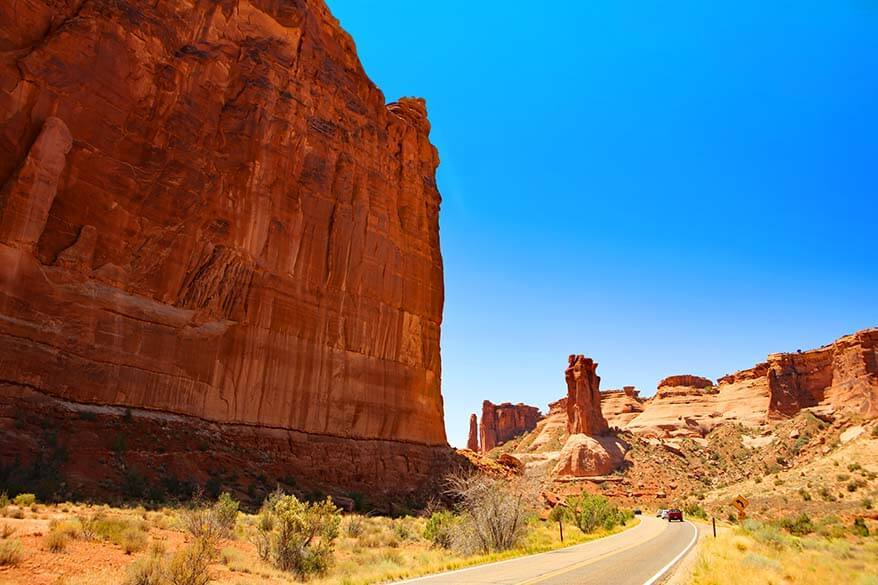 Scenic Road of Arches National Park