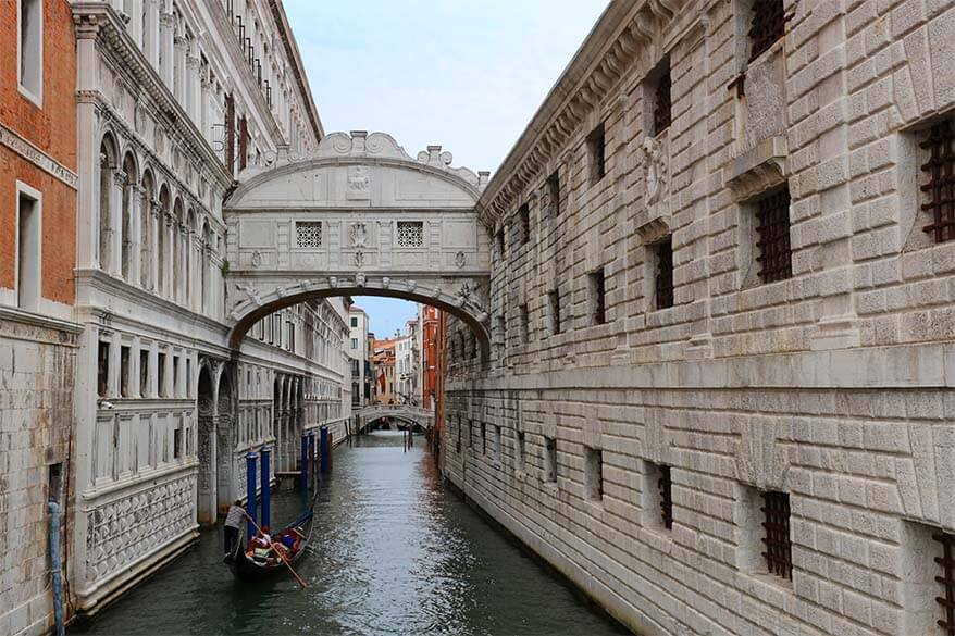 The Bridge of Sighs (Ponte dei Sospiri) in Venice Italy