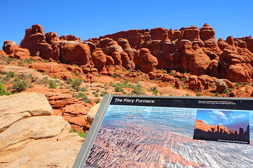 The Fiery Furnace Viewpoint in Arches National Park
