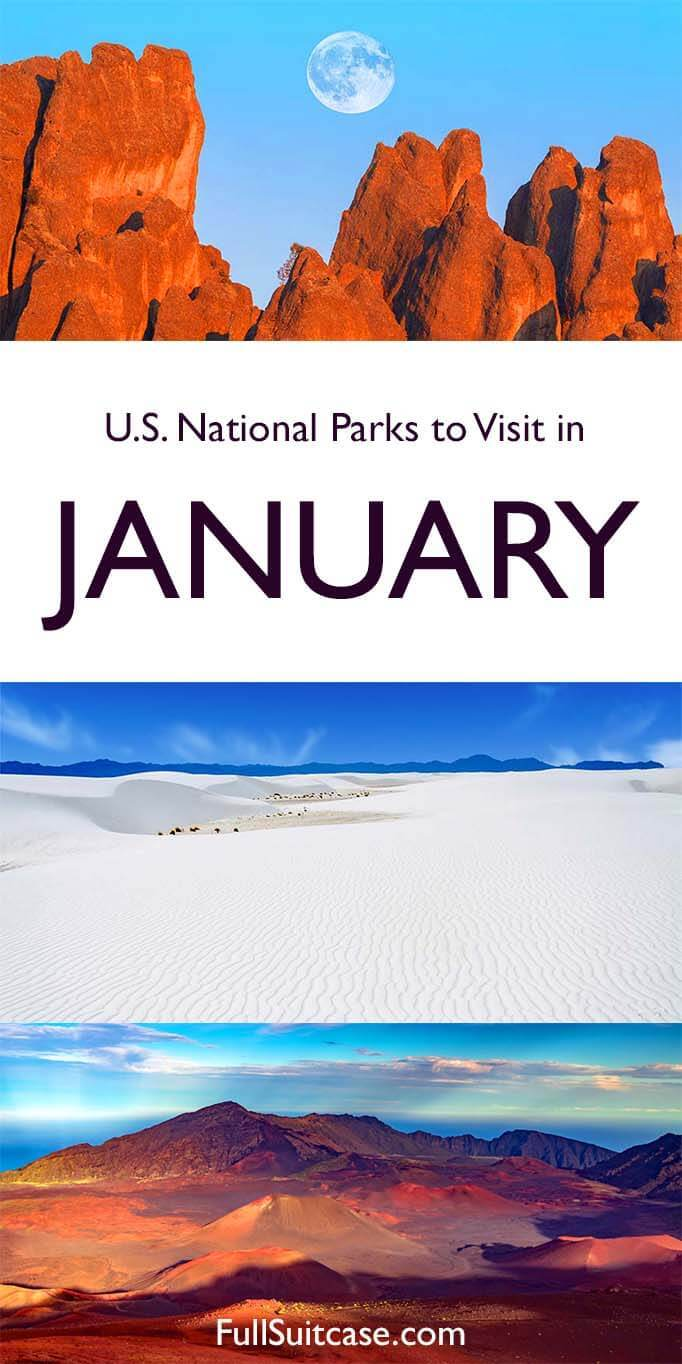 US National Parks to visit in January