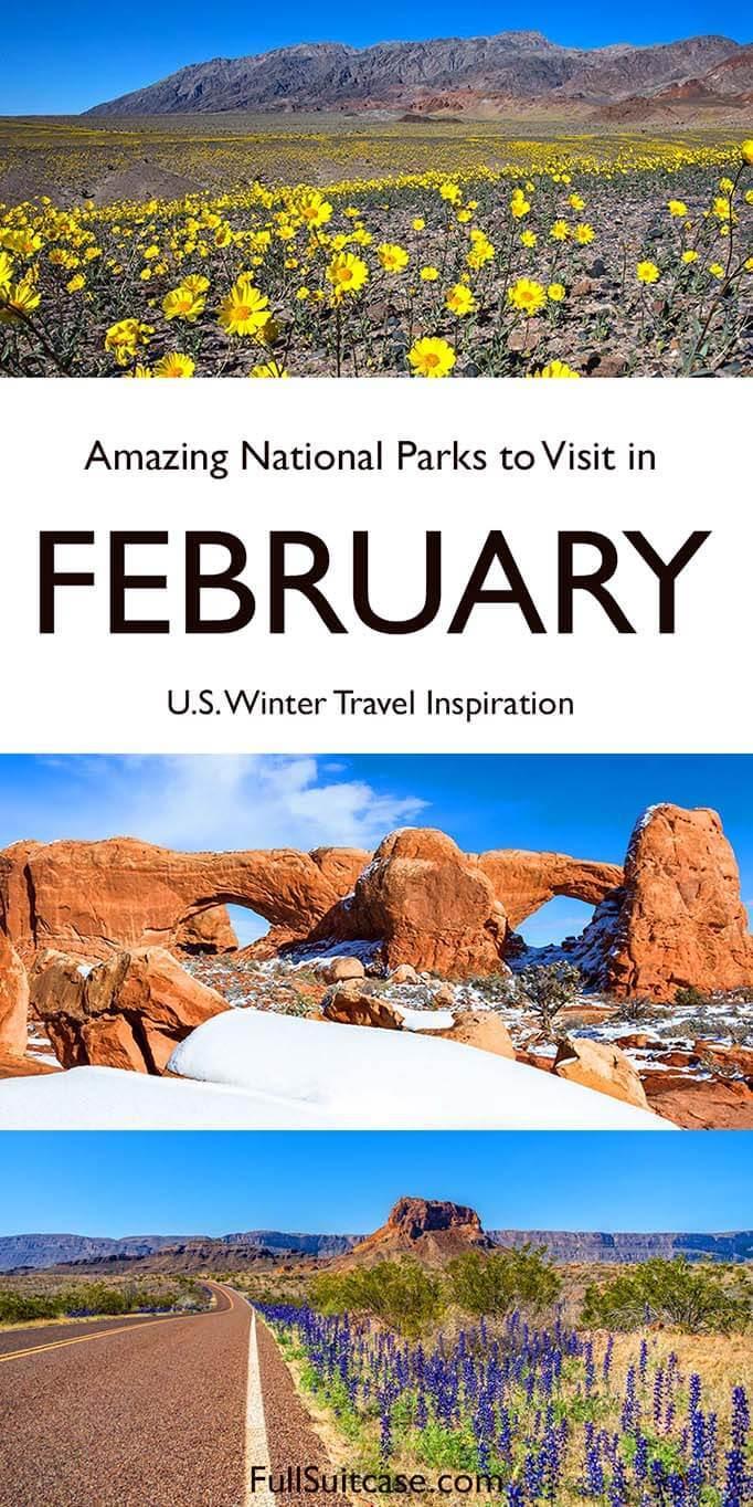 USA National Parks for February trip