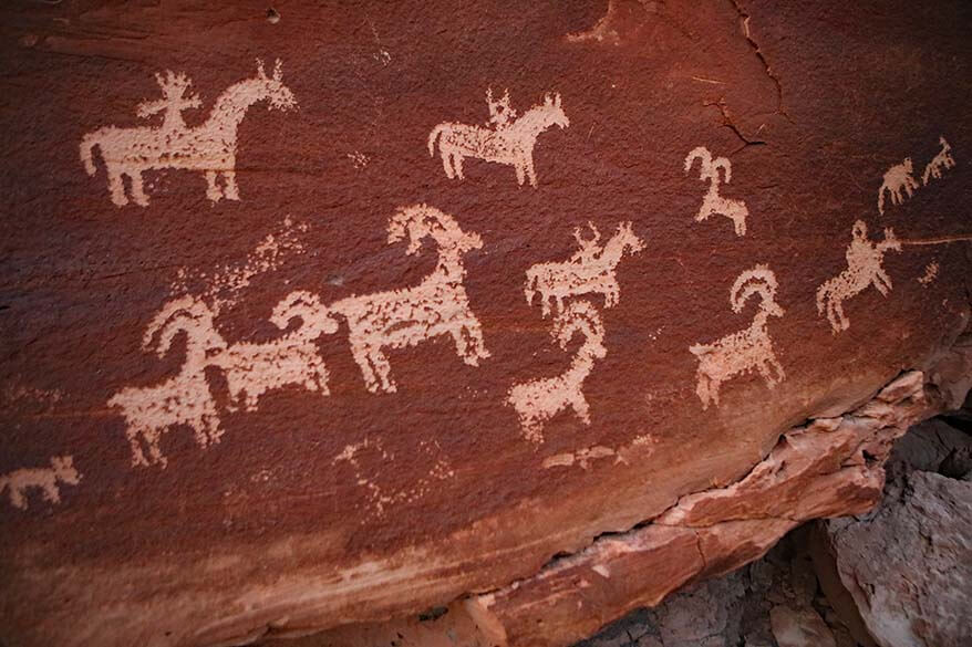 Ute Rock Art at Wolfe Ranch in Arches National Park