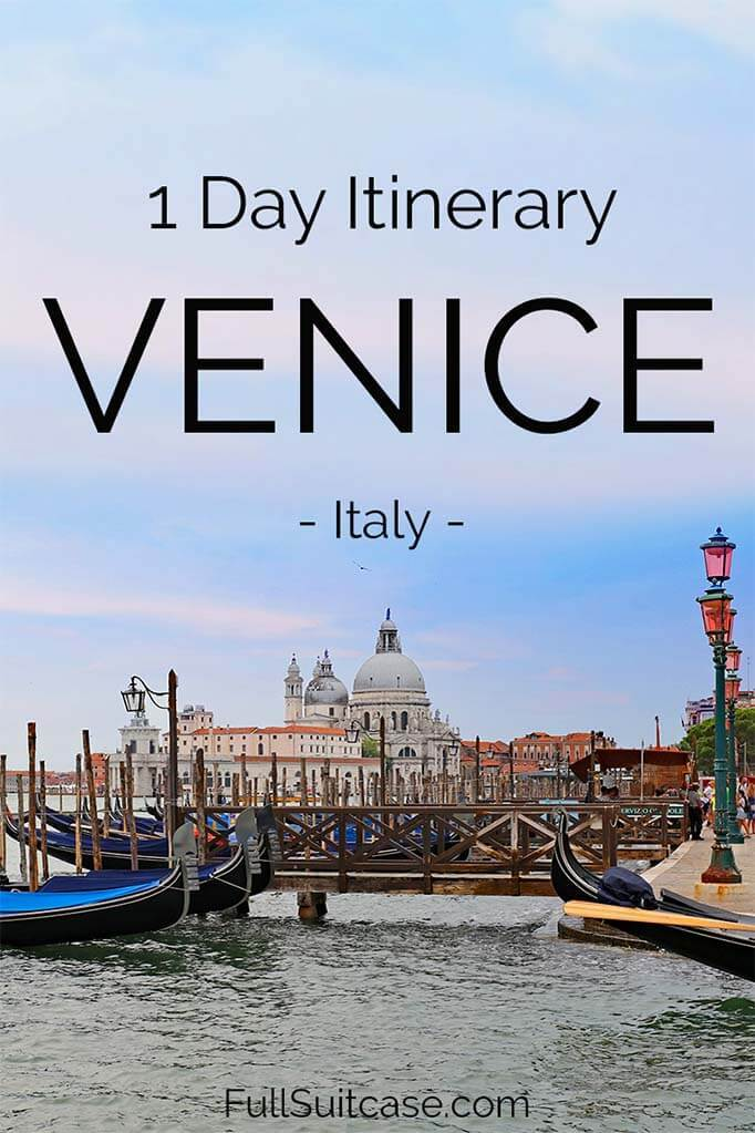 Venice one day itinerary