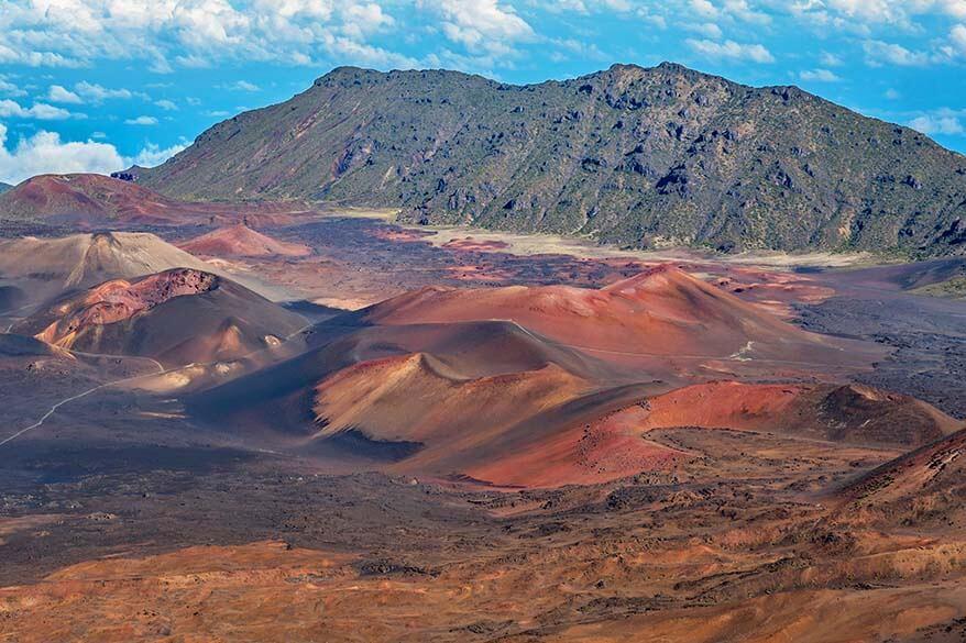Volcanic Landscape of Haleakala National Park in Maui Hawaii