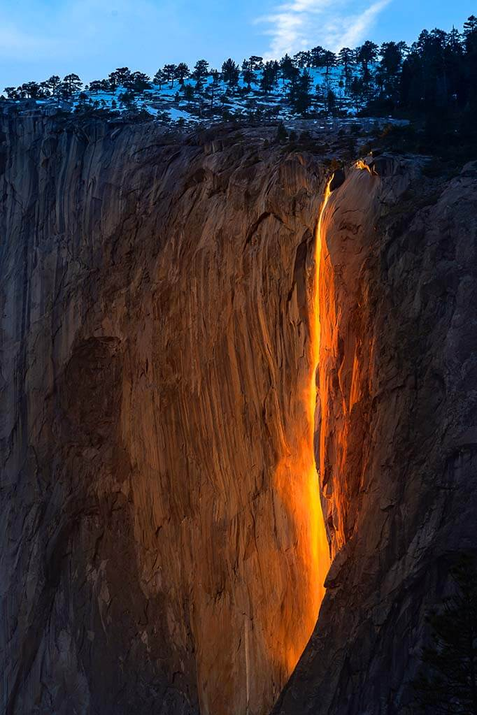 Yosemite Firefall in February