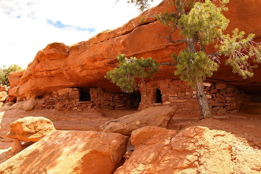 Ancient granaries at Aztec Butte in Canyonlands National Park