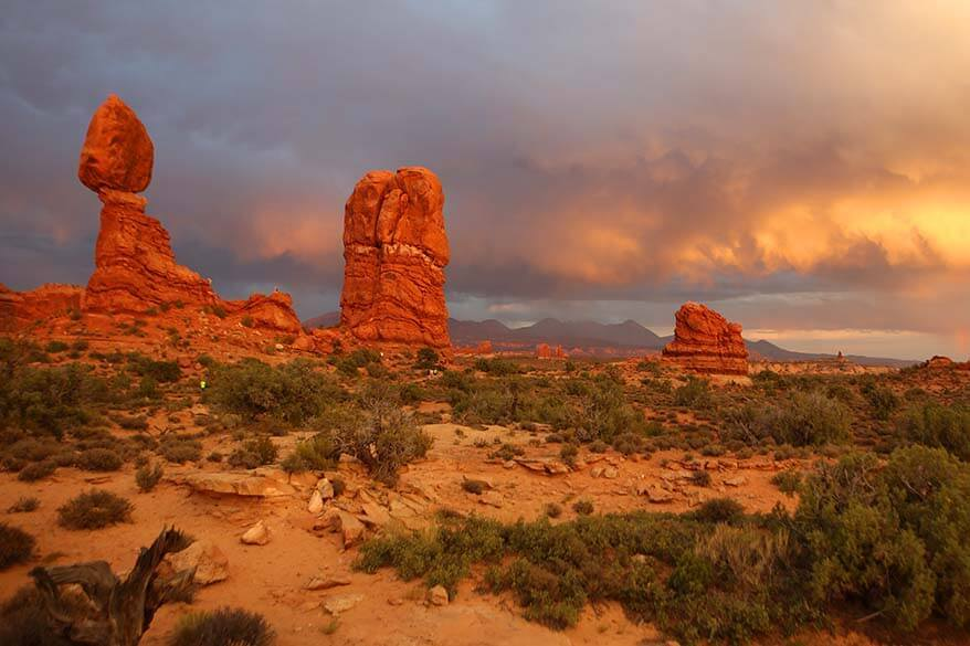 Balanced Rock - one of the must see places in Arches National Park